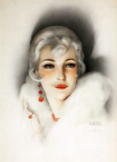 by Alberto Vargas (1928). I am very fond of the less commercial Vargas images.
