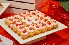 Strawberry themed baby shower