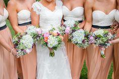Different colors, but love the bridesmaids dresses