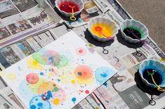 Best Summer Art Projects For Kids Preschool Food Coloring 43 Ideas Summer Art Projects, Toddler Art Projects, Projects For Kids, Summer Crafts, Crafts For Girls, Baby Crafts, Toddler Crafts, Toddler Fun, Kid Crafts