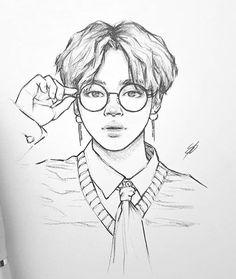 Kpop Drawings, Pencil Art Drawings, Art Drawings Sketches, Art Du Croquis, Film Disney, Kpop Fanart, Art Sketchbook, K Pop, Art Inspo