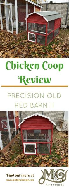 Review of the Precision Old Red Barn II chicken coop. Click to find out about this prefabricated chicken coop or pin it and save it for later