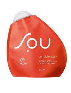 **Condicionador Força e Brilho SOU - 200ml** SOU um jeito novo de consumir. Agora, SOU também para seu cabelo. Um condicionador para fios mais fortes e resistentes, com brilho intenso. Um condicionador bom para você e bom para o planeta. https://www.facebook.com/revendasonlinegoianiagyngo/?fref=ts