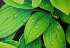 Hojas verdes, Miguel Tapia Green Leaves, Art