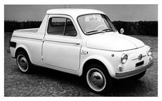 Based on the 500 giardiniera (estate) the 500 Ziba was designed by Ghia in 1962: this tiny little truck is rear engined and rear wheel drive.