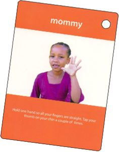 ASL sign for MOMMY  My Smart Hands Flashcards