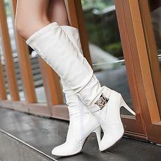 damesschoenen ronde neus naaldhak knie hoge laarzen meer kleuren beschikbaar