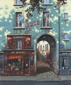 "Jan stokfisz Delarue, ""Le grenier"", year: 50 cm x 60 cm Beautiful Buildings, Beautiful Places, Beautiful Pictures, Image Paris, Places To Travel, Places To Visit, Travel Aesthetic, Belle Photo, Aesthetic Pictures"
