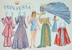 Finnish Prinsessa paper doll 1950's / www.fintoys.com