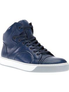 LANVIN Bi-Colour Hi-Top Sneaker