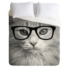 Allyson Johnson Hippest Cat Duvet Cover | DENY Designs Home Accessories