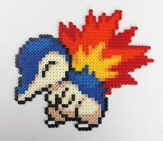 Pokemon - Cyndaquil Bead Sprite by strepie93.deviantart.com on @deviantART