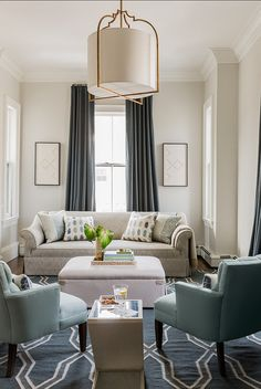 Ivory And Slate Blue Living Room Minimalist Palette Benjamin Moore Paint Color Classic Gray Pendant Is The Most Amazing Beautiful Fixture