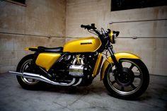 Honda Goldwing Custom - Right Side Vintage Bikes, Vintage Motorcycles, Custom Motorcycles, Custom Bikes, Goldwing Bobber, Scrambler Motorcycle, Motorcycle Seats, Women Motorcycle, Motorcycle Helmets