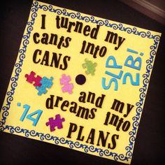 Undergraduate graduation cap! #slp2b #2014 #graduation