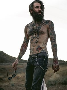 Smokin' Guys : Photo Hairy Men, Bearded Men, Mustache, Beard Love, Perfect Beard, Tattoos For Guys, Sexy Tattoos, Hipster Man, Hipster Style