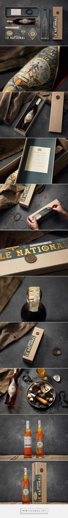 Le National Packaging Design by NINE (Sweden) - http://www.packagingoftheworld.com/2016/06/le-national-gronstedts-cognac-limited.html