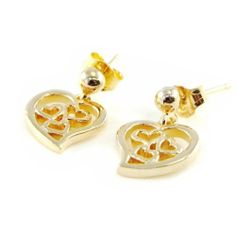 """Gold plated loops """"Love"""". Les Tresors de Lily. $24.00. Save 31% Off!"""