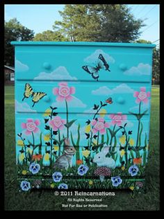Hand Painted Furniture - Floral Meadow Dresser