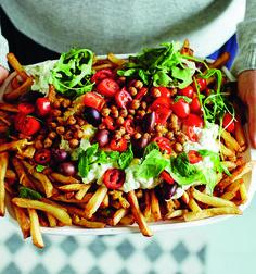 Vegan Party Food, Kung Pao Chicken, Cobb Salad, Chili, Tasty, Ethnic Recipes, Chile, Chilis