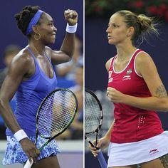 Venus Williams & Karolina Pliskova will battle it out tomorrow at the #WTAEliteTrophy final! Who you got?