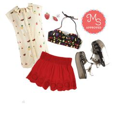 Fruity or Not, Here I Come Top by modcloth on Polyvore