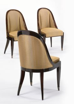 ruhlmann, émile-jacques set of Art Deco Furniture, Funky Furniture, Furniture Upholstery, Luxury Furniture, Dining Furniture, Furniture Design, Wood Chair Design, Sofa Design, Silla Art Deco