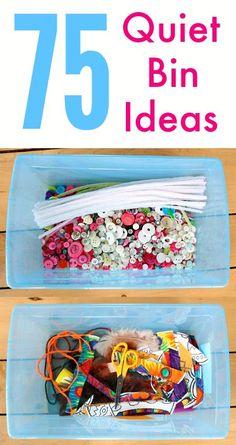 75+ quiet bin ideas for toddlers and preschoolers