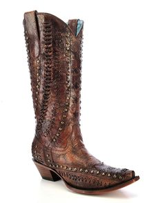 Corral | Women's Cognac Snip Toe Boot - C3004 | Country Outfitter
