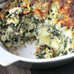 Easy Spinach Casserole With Artichokes and Quinoa