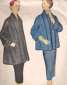 1950s  Womens' Topper Swing Coat in Two Lengths  by PatternsOfYore, $15.00