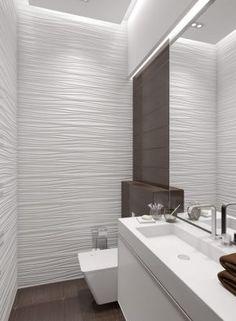 Salle de bains : 15 façons d'adopter le carrelage 3D