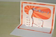 サンキューカード Thank you card [Origamic Architecture , Pop up card , kirigmi , 折り紙建築 , ポップアップカード]