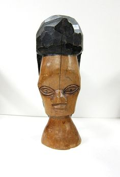 Hand-Carved Tribal African Wood Sculpture by 13thhourvintageshop