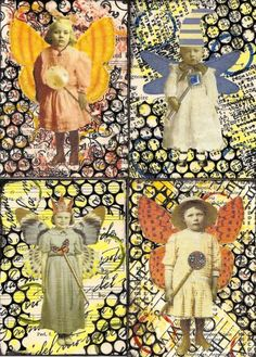 ATCs artist trading cards; available to swap by PaperScraps on flickr: altered art; #ATC #artist trading card #art #craft #papercraft