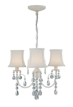 Lite Source LS-19528IVY Sofie Three Lite Chandelier, Ivory with Crystal And Ivory Shade by Lite Source, http://www.amazon.com/dp/B0017PNYW8/ref=cm_sw_r_pi_dp_Vxhlrb0Y7Z2VJ