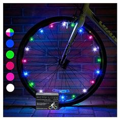 Activ Life LED Bicycle Wheel Lights Tire, Multicolor) Best Xmas Gifts for Kids - Top Cheap Secret Santa X-mas Presents of 2017 Popular Children Bike Toys - Hot Child Bday Party Outdoor Family Fun Christmas Presents For Boys, Cool Presents, Best Christmas Gifts, Christmas Fun, Holiday Gifts, Christmas Decorations, Tandem, Birthday Gifts For Boys, Birthday Presents
