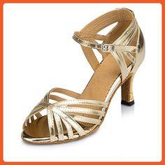 Aaron Womens Peep Toe Mid Heel Salsa Tango Latin Monk Strap Dance Sandals US Size10 - Sandals for women (*Amazon Partner-Link)