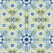 Winter Solstice Blue/Green Tiles (5JYA2) ; sold by the yard