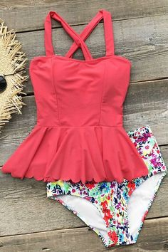 73572acdfb5d8  ad Cupshe Dasiy Does It High-waisted Falbala Bikini Set. A modest high