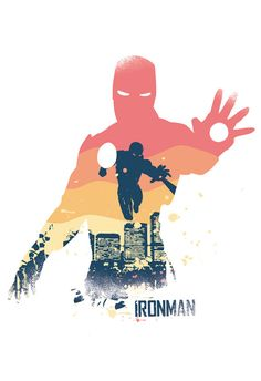 Ironman Poster Design Different sizes Superhero by 2ToastDesign