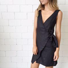 Sir The Label India Wrap Dress- Black