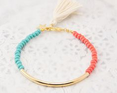 Bracelet tube or Bracelet Perles bracelet perles par Haneelove