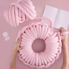 Bulky chunky yarn for hand knitting Crochet soft big cotton DIY Arm Knitting Arm Knitting Yarn, Knitting Kits, Super Chunky Yarn, Knot Pillow, Spinning Yarn, Braided Rugs, Diy Pillows, Decorative Pillows, Throw Pillows