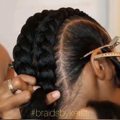 Weave Ponytail Hairstyles, African Braids Hairstyles, Twist Hairstyles, Hair Twist Styles, Curly Hair Styles, Natural Hair Styles, Hair Tips Video, Hair Videos, Cornrows Natural Hair