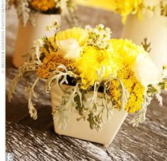 Rustic Yellow Centerpieces