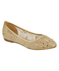 Another great find on #zulily! Gold Fawn Flat by Pinky #zulilyfinds