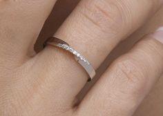 Mobius ring Diamond mobius ring Pave mobius by elegantjewelbox