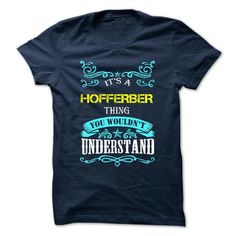 cool I love HOFFERBER Name T-Shirt It's people who annoy me