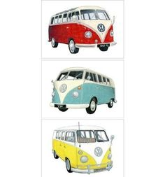 volkswagen camper drawings